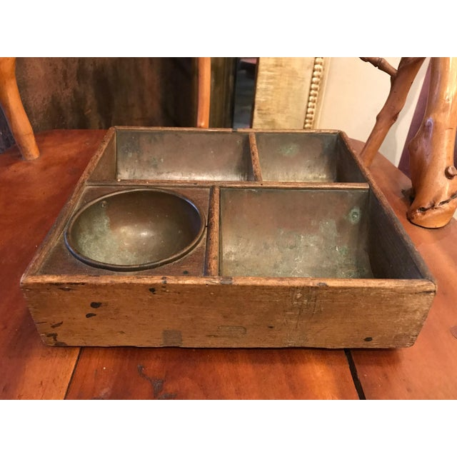 Traditional Copper Lined Cash Drawer Box For Sale - Image 3 of 10