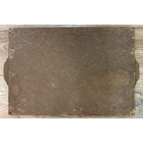 1930s Antique Art Deco Reverse Painted Glass Tray For Sale - Image 5 of 6