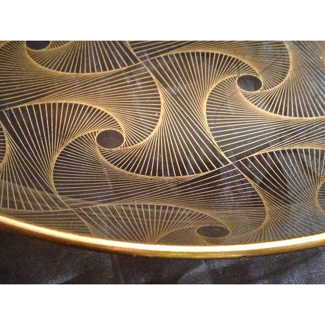 Op Art Gilded Glass Serving Plate - Image 3 of 10