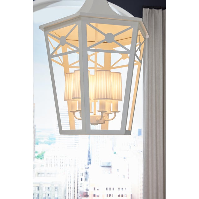 Wildwood Church Court Lantern, White For Sale - Image 4 of 6