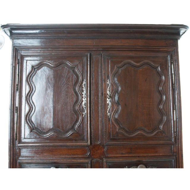 French 18th Century Dark Oak Homme Debout / Cupboard For Sale - Image 9 of 10