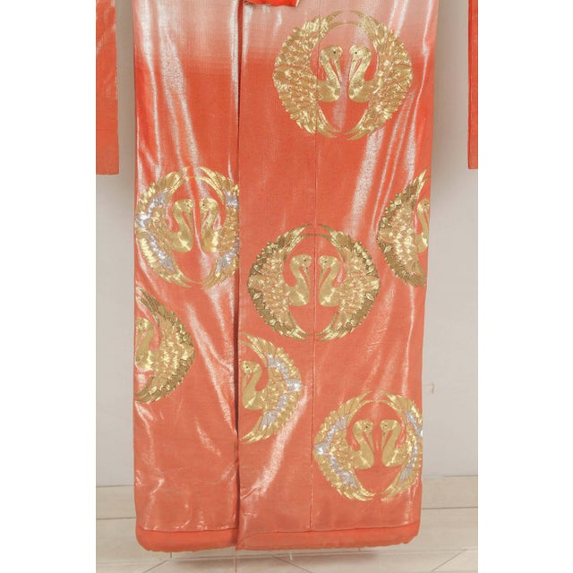 Early 20th Century Japanese Ceremonial Kimono Framed in a Lucite Box For Sale - Image 5 of 10