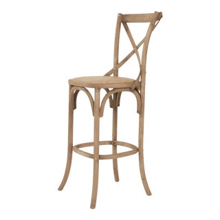 Somer Parisienne Cafe Bar Stool in Beige For Sale