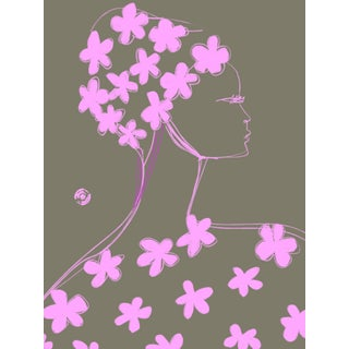 """Nina Ricci Pink Fleur"" Limited Edition Print by Annie Naranian For Sale"