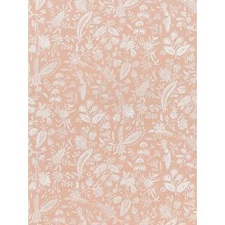 Sample, Scalamandre Tulia Linen Print, Blush Fabric For Sale