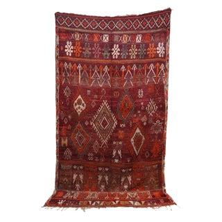 "Arabia Vintage Moroccan Rug, 6'5"" X 10'10"" Feet For Sale"