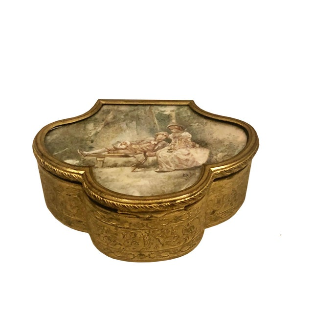 Bronze Late 19th Century French Neoclassical Bronze Ormolu Box For Sale - Image 8 of 8