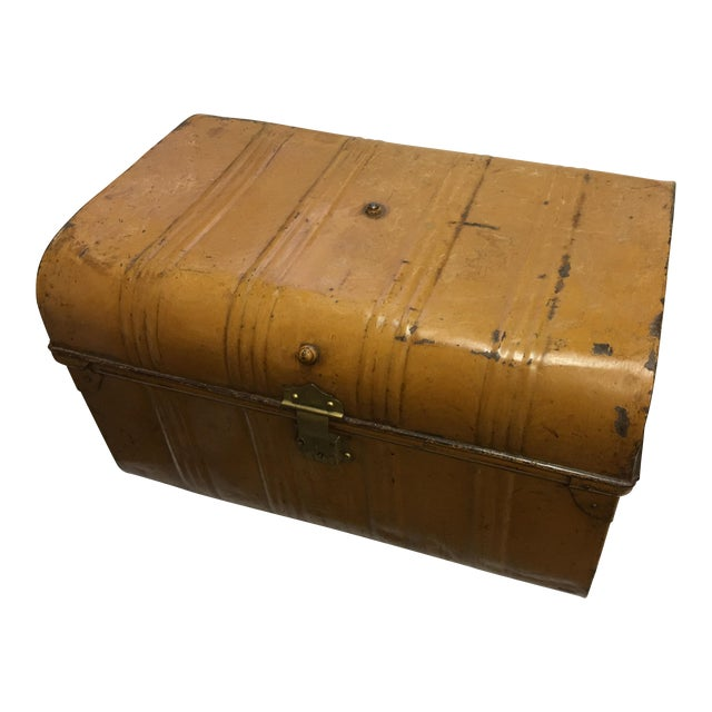Old Victorian English Tin Trunk - Image 1 of 6