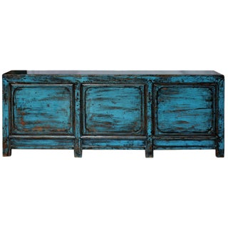 1900s Asian Shanxi Blue Sideboard For Sale