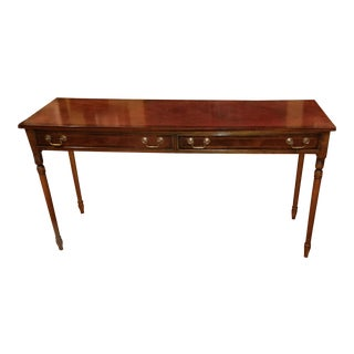 20th Century George III Inlaid Mahogany Console Table by Yorkshire House For Sale