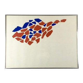 1960s Vintage Robert Goodnough Limited Edition Abstract Silkscreen Serigraph Print For Sale