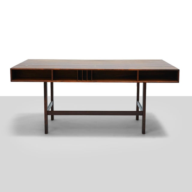 Rosewood Partners Desk by Peter Lovig Nielsen For Sale - Image 7 of 11