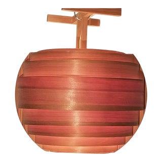 1960s Scandinavian Mid-Century Modern Wooden Pendant Lamp in the Style of Hans-Agne Jakobsson For Sale