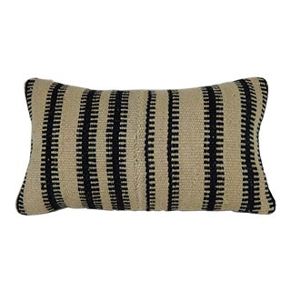 Traditional Wool Farmhouse Mudcloth Design Lumbar Pillow For Sale