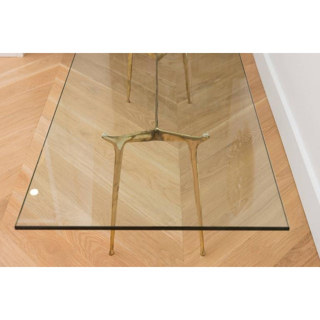 Italian Brass Cocktail Table For Sale - Image 5 of 8