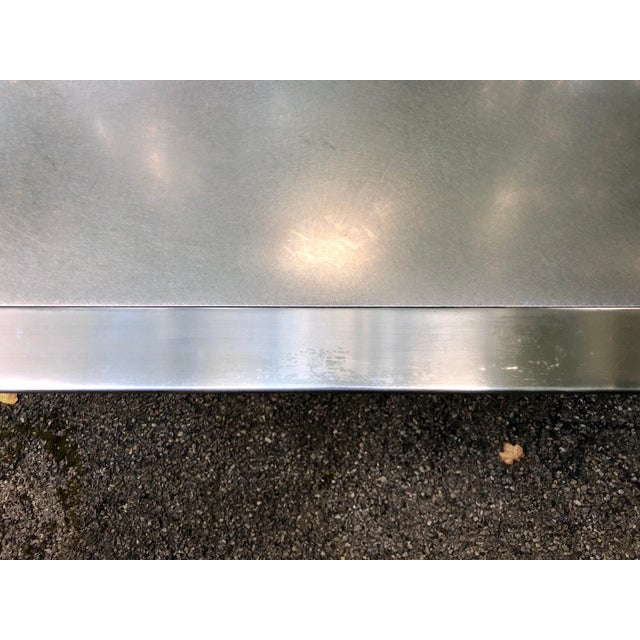 Stanley Friedman Stainless Steel Dining Table for Brueton For Sale - Image 10 of 13