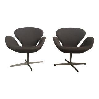 Fritz Hansen Swan Chairs - a Pair