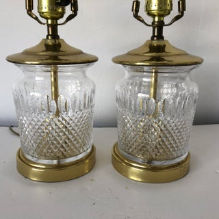 "Pair Traditional Crystal Table Lamps 17"" Tall Preview"