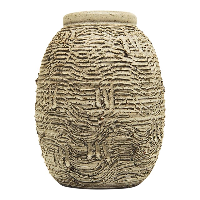 Early Design Technics Pottery Vase For Sale