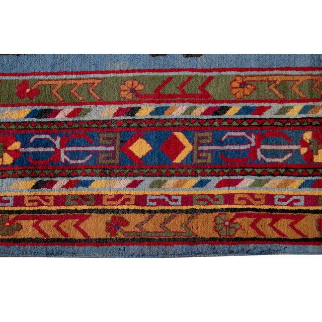 Mid-20th Century Vintage Khotan Rug 6' 10'' X 9' 7''. For Sale - Image 10 of 13