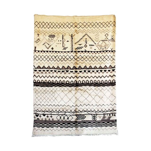 "Beni M'Rirt Moroccan Rug, 7'2"" x 10'4"" feet - Image 3 of 3"