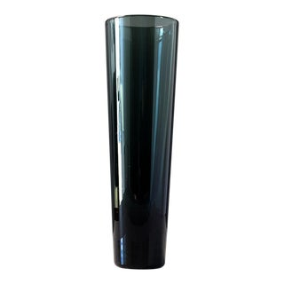 1950s Hadeland Norway Tall Blown Glass Vase For Sale