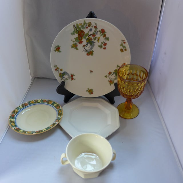 Vintage Mismatched Lunch Setting - 5 Pieces For Sale In New York - Image 6 of 6
