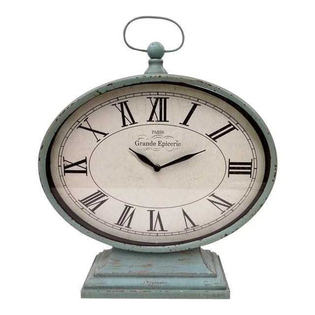 New Large Vintage-Style Mantel Clock For Sale
