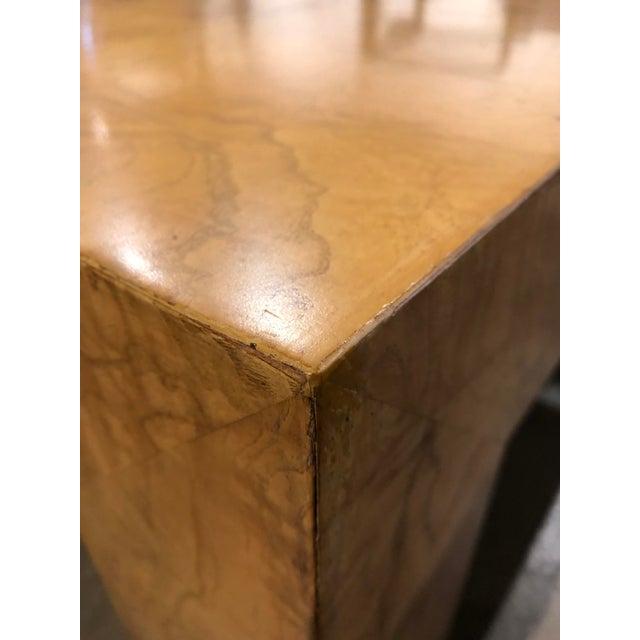 Monumental Milo Baughman Burlwood Coffee Table For Sale In Greensboro - Image 6 of 10