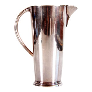 Vintage Art Deco / Mid Century Modern Silver Plated Cocktail Martini Pitcher For Sale