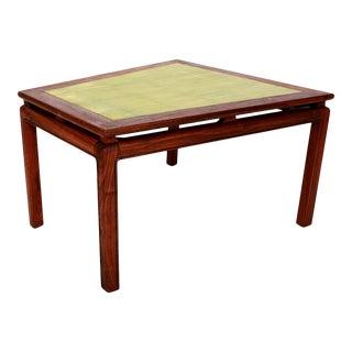 1950s Wedge Side Table Walnut Wood & Gold Leaf Edward Wormley Dunbar Era For Sale