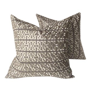 Kravet Couture Barbara Barry Ceylon Key Pillows - A Pair