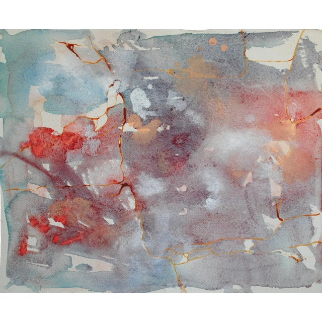 Vintage Watercolor Abstract - Image 1 of 5
