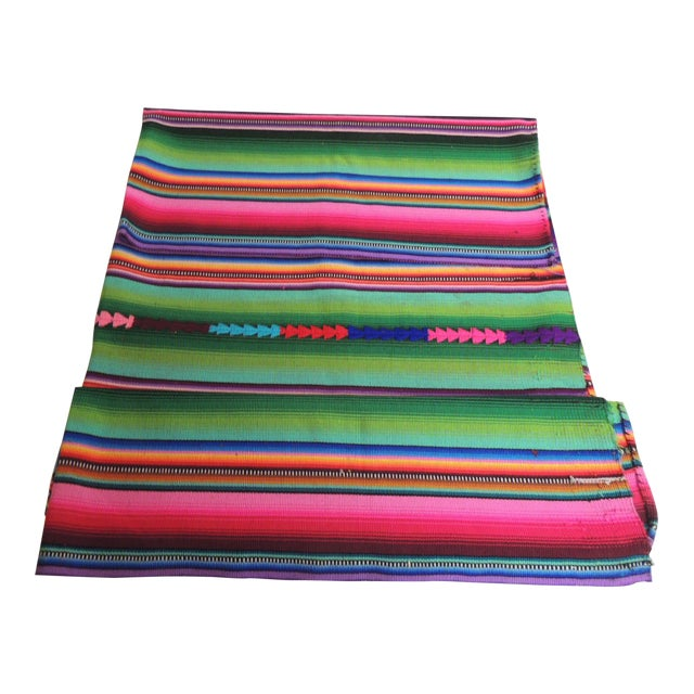 Guatemalan Woven Multi Color Throw - Image 1 of 3