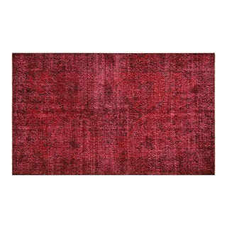 "Nalbandian - 1960s Overdyed Turkish Rug - 3'11"" X 6'6"" For Sale"