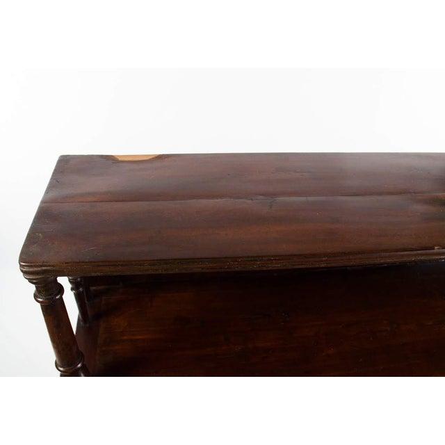 Mahogany 19th Century English Traditional Mahogany 3 Shelf Etagere For Sale - Image 7 of 13