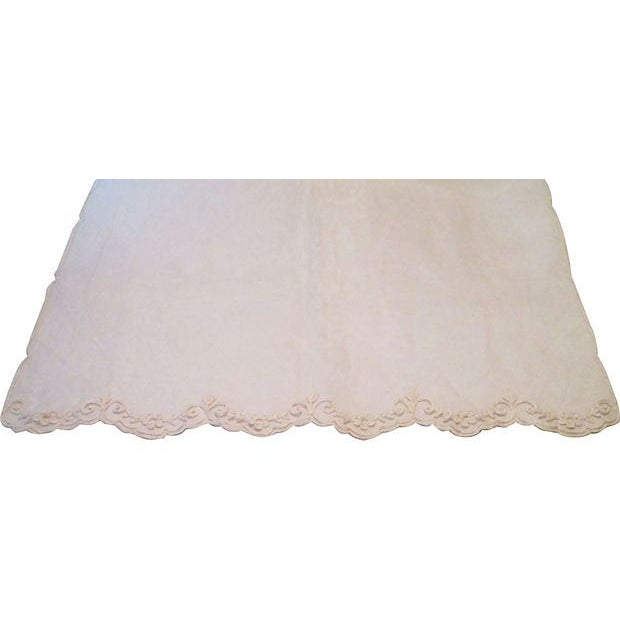 19th-C. French Embroidered Tulle Runner For Sale - Image 5 of 7