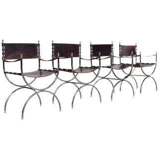 "Set of Four ""Savonarola"" Emperor Chairs by Maison Jansen For Sale"