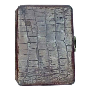 Vintage Alligator Card Case