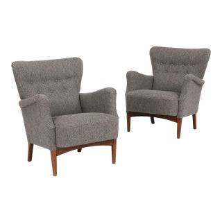 1940s Vintage Fritz Hansen Chairs- A Pair For Sale