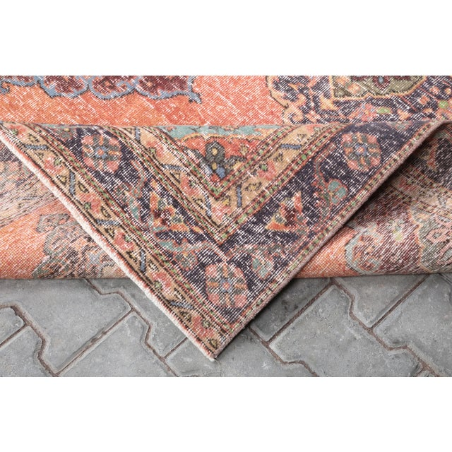 """1960s 1960's Vintage Turkish Hand-Knotted Wide Runner Rug - 4'4"""" X 12'5"""" For Sale - Image 5 of 11"""