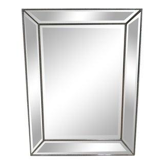 Italian Regency Venetian Silver Gilt Hanging Wall Dresser Mirror For Sale