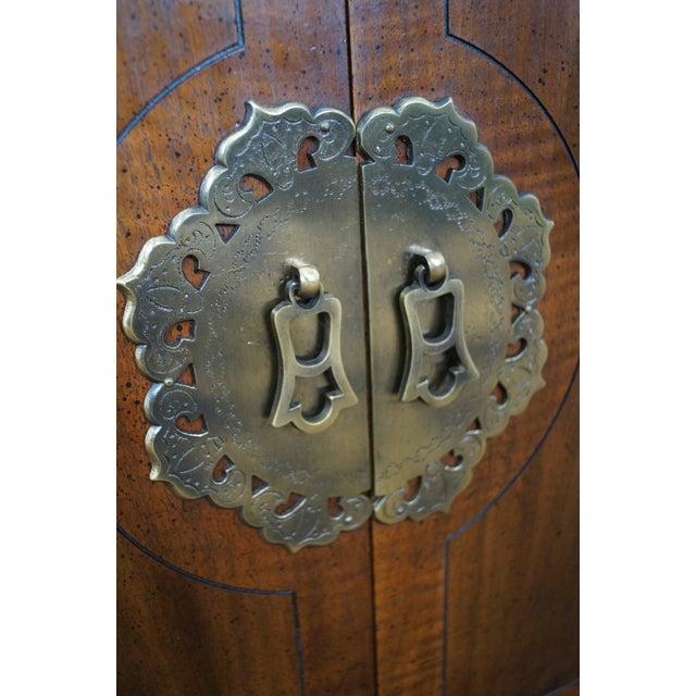 Henredon Asian Influenced Mahogany Nightstand For Sale - Image 5 of 7