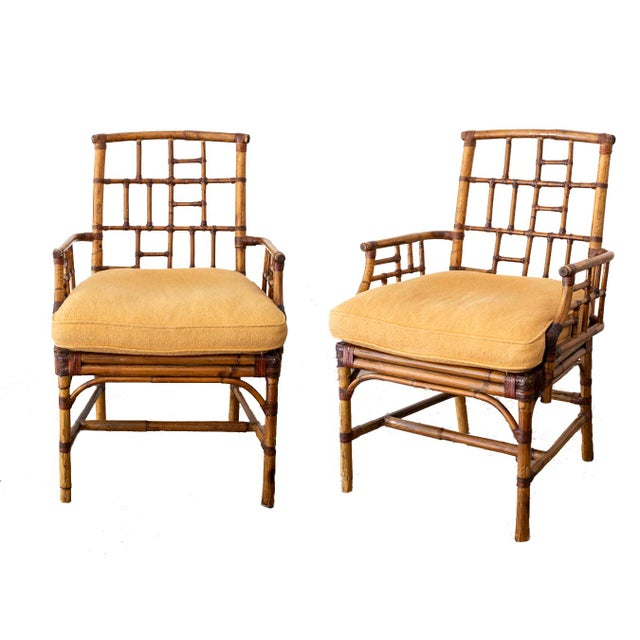 McGuire Bamboo Side Chairs- a Pair For Sale - Image 12 of 12