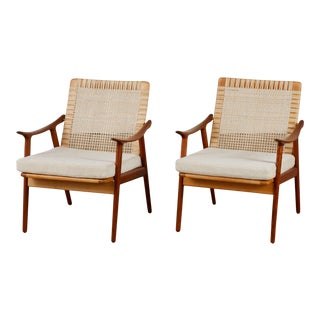 Pair of Fredrik Kayser Lounge Chairs for Vatne Møbler For Sale
