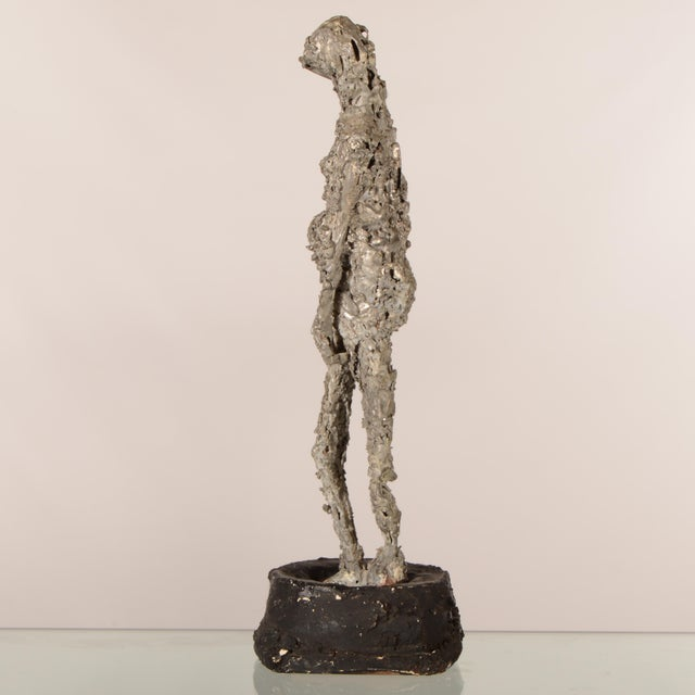 """Abstract """"Silver Lady"""" Figurative Sculpture Statue For Sale - Image 3 of 12"""