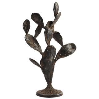 Modern Rustic Metal Cactus Sculpture