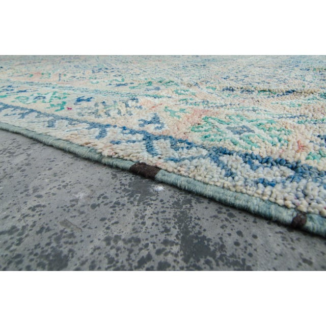 "Vintage Moroccan Boujad Boujad Rug Carpet Berber - 11'5"" x 6'3"" For Sale - Image 9 of 10"