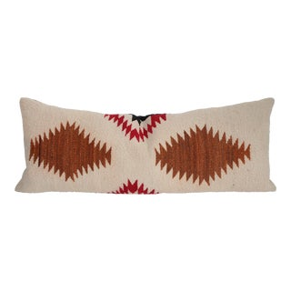 Muted Navajo Style Weaving Bolster Pillow For Sale