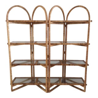 1980s Boho Chic Bielecky Brothers Etagere For Sale